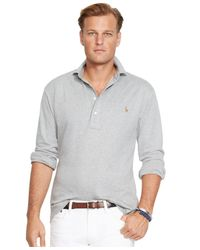 Polo Ralph Lauren | Gray Big And Tall Pima Soft-touch Estate Shirt for Men | Lyst