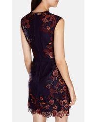 Karen Millen Purple Floral Dress