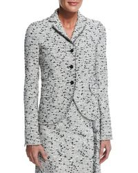 Nina Ricci - Black Tweed Three-button Jacket - Lyst