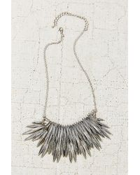 Urban Outfitters | Metallic Burning Rays Statement Necklace | Lyst