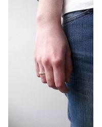 Fraser Hamilton Metallic Hand Ring Silver