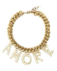 Dolce & Gabbana | Metallic 'amore' Necklace | Lyst