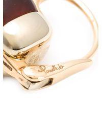 Pomellato | Metallic 18kt Rose Gold Nudo Garnet Earrings | Lyst