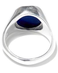 George Frost Metallic Silver-plated Poison Inner Peace Ring