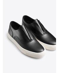 Vince Black Nelson Leather Sneaker