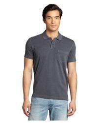 Ermenegildo Zegna - Gray Charcoal Cotton Pique Pocketed Polo Shirt for Men - Lyst