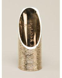 Kelly Wearstler - Metallic 'decker' Ring - Lyst