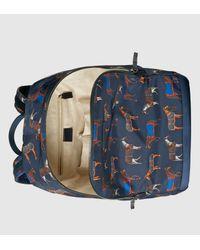 Gucci Blue Horse Print Backpack for men