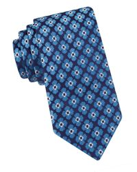 Ted Baker | Blue Woven Floral Silk Tie for Men | Lyst