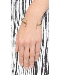 Michael Kors - Metallic Pave Bar Open Cuff Bracelet Goldclear - Lyst
