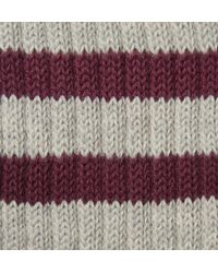 Beams Plus - Gray Striped Cotton-Blend Socks for Men - Lyst