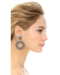 DANNIJO | Metallic Perla Earrings - Clear/ox Silver | Lyst