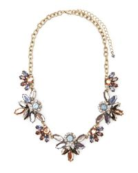 Forever 21 | Blue Petal Statement Necklace | Lyst
