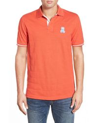 Psycho Bunny | Red 'st. Ives' Pima Cotton Pique Polo for Men | Lyst