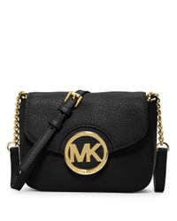 MICHAEL Michael Kors | Black Fulton Leather Small Crossbody Bag | Lyst