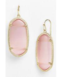 Kendra Scott - Pink 'elle' Drop Earrings - Blush - Lyst