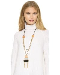 Lizzie Fortunato - Multicolor Muse Multi-chain Pendant Necklace - Lyst