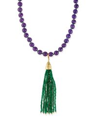 Rosantica | Purple Himalaya Two-tone Agate Tassel Necklace | Lyst