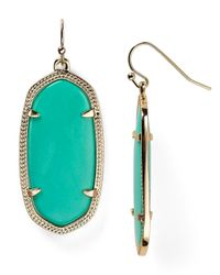 Kendra Scott Green Elle Earrings