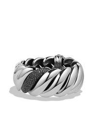David Yurman - Hampton Cable Bracelet with Black Diamonds - Lyst
