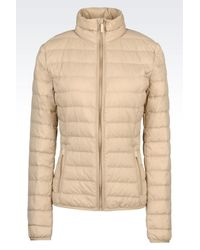 Armani Jeans | Natural Down Coat | Lyst