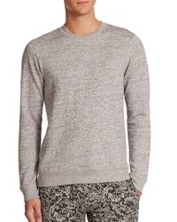 Theory - Gray Danen Terry Cotton Sweatshirt for Men - Lyst