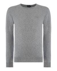 Armani Jeans | Gray Crew Neck Logo Jumper for Men | Lyst