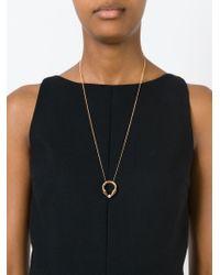 Vita Fede - Metallic 'titan Cubo Ring' Necklace - Lyst