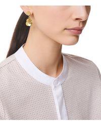 Tory Burch - Metallic Logo Charm Drop Earring - Lyst