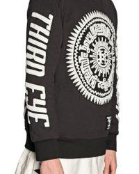 KTZ Black Terrycloth On Cotton Sweatshirt for men