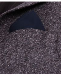 Jules B - Blue Plain Poplin Shirt W/ Pocket Square for Men - Lyst