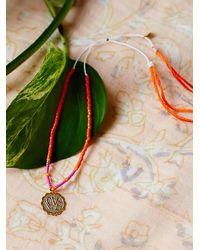 Free People | Pink Templestones Womens Chakra Thread Bracelet | Lyst