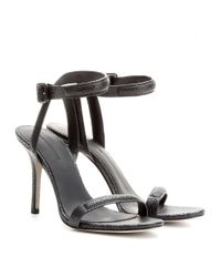 Alexander Wang - Black Antonia Textured-Leather Sandals - Lyst