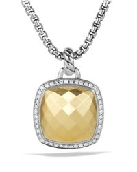 David Yurman - Metallic Albion Pendant With Diamonds And Gold - Lyst