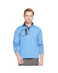 Pink Pony - Blue Tech Jersey Half-zip Pullover for Men - Lyst