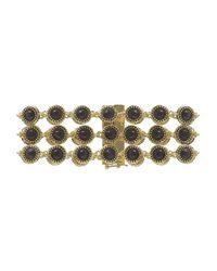 House of Harlow 1960 | Metallic Cuzco Three Row Station Bracelet | Lyst