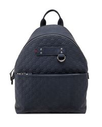 Gucci Blue Ssima Rubberized Leather Backpack for men