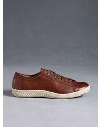John Varvatos | Brown Hattan Low Top Sneaker for Men | Lyst