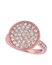 Morris & David | Pink Diamond Ring In 14 Kt. Rose Gold | Lyst