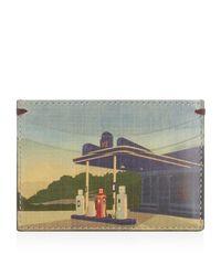 Paul Smith Blue Petrol Station Card Holder for men