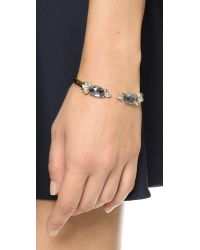 Alexis Bittar Gray Prophecy Spiked Crystal Bracelet - Grey/gold