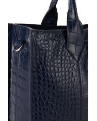 HUGO | Blue 'valerie-c' | Leather Shopper With Detachable Strap | Lyst