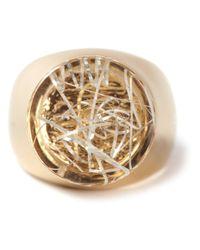Chloé - Metallic Thick Ring - Lyst
