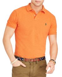 Polo Ralph Lauren | Orange Mesh Polo Shirt for Men | Lyst