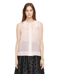 kate spade new york | Pink Organza Adin Top | Lyst