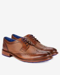 Ted Baker - Brown Leather Wingtip Derby Brogues for Men - Lyst