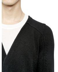 Alexandre Plokhov Black Cashmere Long Cardigan for men