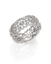 Judith Ripka | Metallic White Sapphire Sterling Silver Lace Ring | Lyst