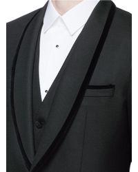 Dolce & Gabbana Black 'martini' Velvet Trim Three-piece Tuxedo Suit for men