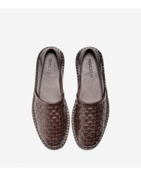 Cole Haan - Brown Camden Woven Loafer for Men - Lyst